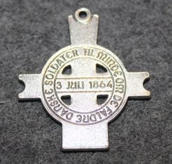 Lundbymarchen, commemorative pendant of 3rd of july 1864 battle.