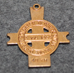 Lundbymarchen, commemorative pendant of 3rd of july 1864 battle, 40km
