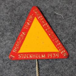 1. Nordiska Trafiksäkerhets Kongressen Stockholm 1939. 1st Nordic trafficsafety congress.