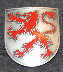 Helmet Badge, Red lion.