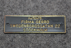 Patents Firma Gerro, Swedenborgsgatan 22, Stockholm