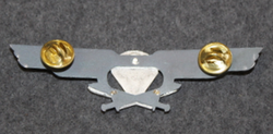 Finnish Army Airborne Jaeger Company Chest badge ( Jump badge ).  2nd class