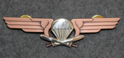 Finnish Army Airborne Jaeger Company Chest badge ( Jump badge ).  3rd class