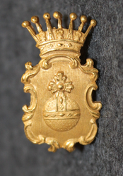Swedish Police / Chief Constable Cap Badge, Uppsala County (Uppsala län ), pre 1926