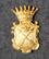 Ruotsin Poliisi / Kruununvouti, lakkimerkki, Kopparbergs län <1926