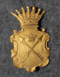 Swedish Police / Chief Constable collar badge, Kopparbergs län / county, pre 1926