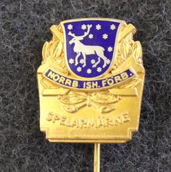 Norrbottens Ishockeyförbund, Spelarmärke, icehockey player pin, Silver
