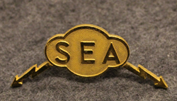 Svensk Elektrobil AB, SEA, drivers cap badge.