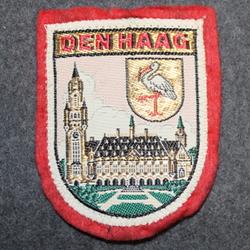 Den Haag, matkamuisto kangasmerkki, huopa.