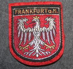 Frankfurt a. M, matkamuisto kangasmerkki, huopa.