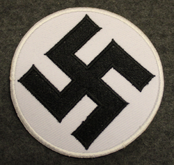 Swastika, 60mm sew on patch