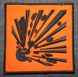 Explosives, sew on patch