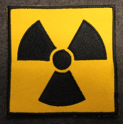 Radiation, sew on patch