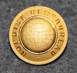 Nordisk Resebureu, travel agency, 24mm, gilt. LAST IN STOCK