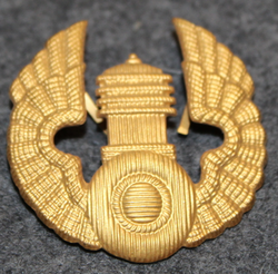 Motorist cap badge. Round model