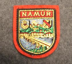 Namur, matkamuisto kangasmerkki, huopa.
