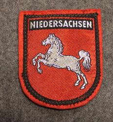 Niedersachsen, matkamuisto kangasmerkki, huopa.