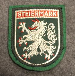 Steiermark, matkamuisto kangasmerkki, huopa.
