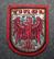Tirol, matkamuisto kangasmerkki, huopa.