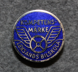 Leksands Bilskola, Kompetensmärke. Driving school badge