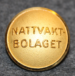 Nattvakt Bolaget, security company, 23mm, gilt.