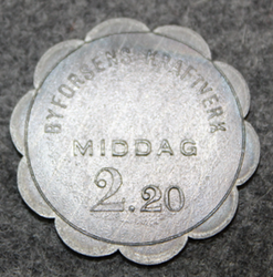 Byforsens kraftverk, Middag, 2:20. Meal token LAST IN STOCK