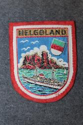 Helgoland, matkamuisto kangasmerkki.