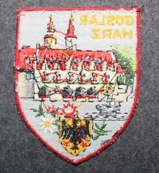 Goslar Harz, matkamuisto kangasmerkki.