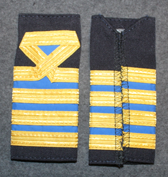 Epaulettes / Rank Slides, Finnish Merchant navy. Blue