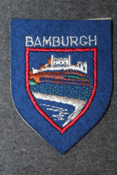 Bamburgh, souvenir patch. Felt base.