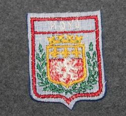 Lyon, souvenir patch. Felt base.