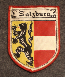Salzburg, souvenir patch. Felt base.