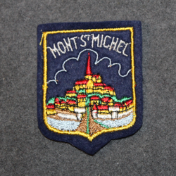 Mont st Michel, souvenir patch. Felt base.