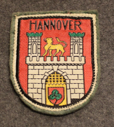 Hannover, souvenir patch. Felt base.
