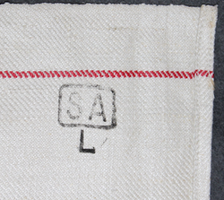 Linen Towel, Finnish army military hospital, ( ww2 ) SA L stamped