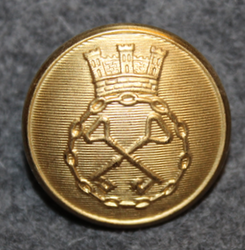 Förenade Svenska Vakt AB, ( Securitas ) Security corporation. 23mm gilt