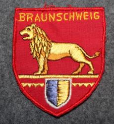 Braunschweig, matkamuisto kangasmerkki. Huopapohja.