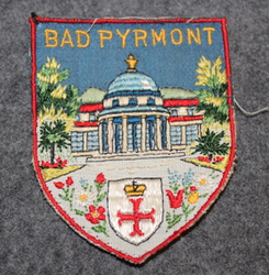 Bad Pyrmont, matkamuisto kangasmerkki.