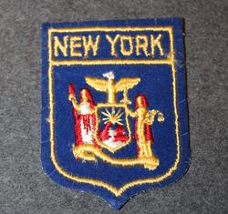 New York, matkamuisto kangasmerkki.