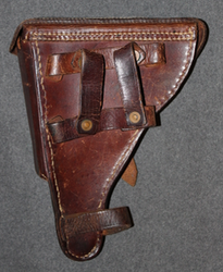 Finnish Army WW2 holster for Parabellum M/23 with / wood stock loops.