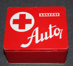First aid kit, Sanitas Auto. Czechoslovakian 1970-1980, EMPTY