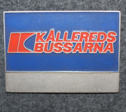 AB Kålleredsbussarna, bus drivers badge.