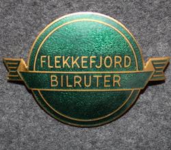 Flekkefjord Bilruter, bus drivers badge.