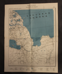 Finnish WW2 map,  SF4, For offcial use only, Leningrad.