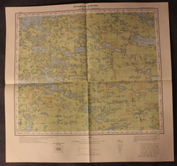 Finnish WW2 map,  East Karelia Q-36-53, Rukalahti, Murmansk Railway
