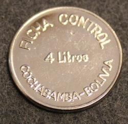 PIL Ficha Control 4 litre, Cochabamba - Bolivia, maitorahake