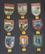 Vintage matkamuisto kangasmerkkejä: Verona, Moskva CCCP, Padova, Venezia, Trieste, Porec Jugoslavia....