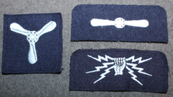 RAF, rank and branch patches.