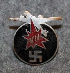 Regimetal badge, 7th Army corps, airdefence troops. Finnish WW2.