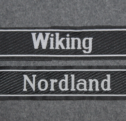 SS cuff titles, Nordland, Wiking, Finnisches Frw
